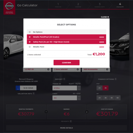 Nissan Go Calculator